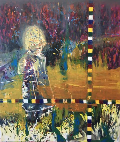 Carlos Perez, Die Besucherin, 2017, Öl auf Leinwand,180x150cm