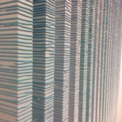 Barbara Höller, Charts, Acrylfarbe auf Aluminiumstangen, je 160x60cm, 2010, Detail