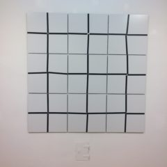 Barbara Höller, Check It, Lack auf Alubibond, neunteilig, 150x150cm, 2012