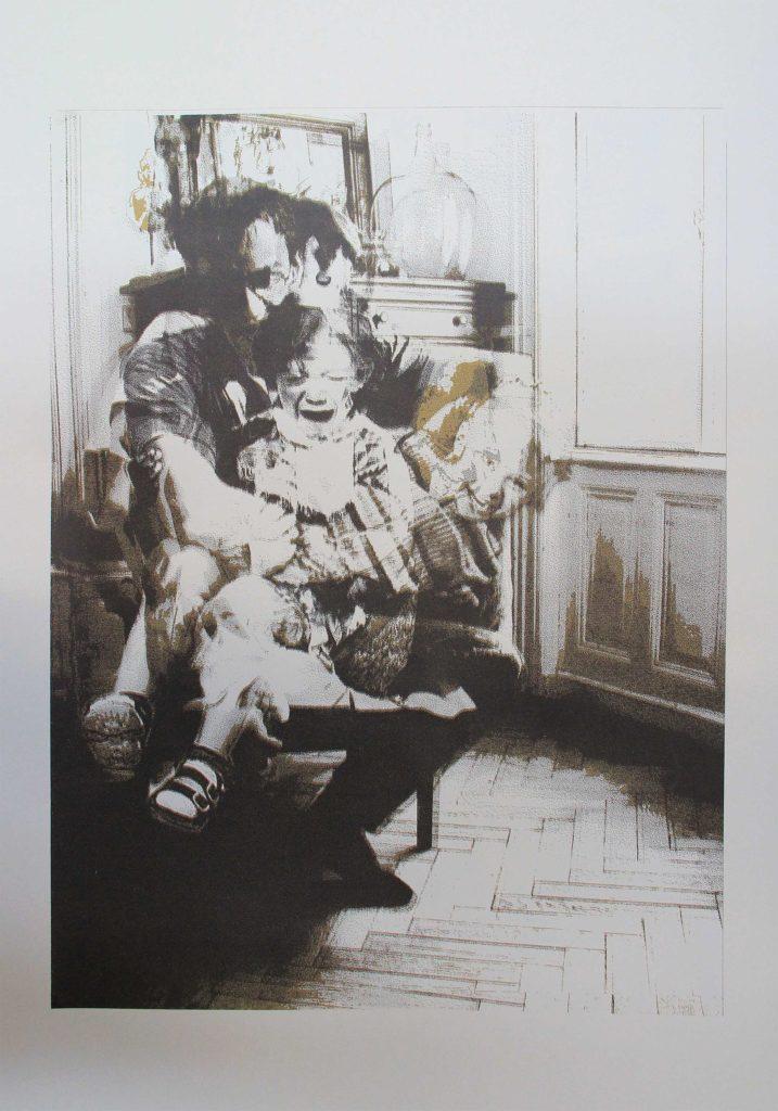 Sabine Galdberger, golden hours, father Siebdruck 100x70 cm, edition 1/9, 2016