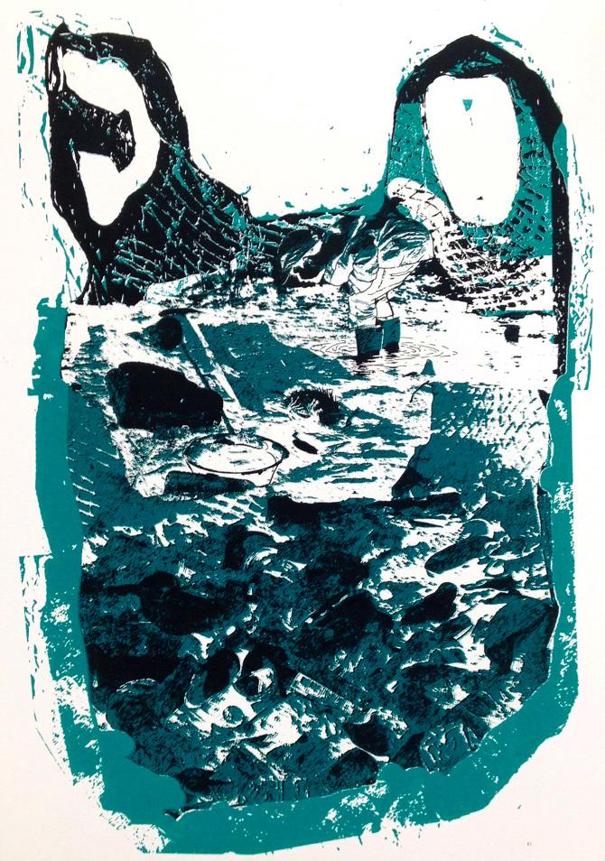 Sabine Galdberger, Siebdruck 43 x 30 cm, Auflage 1/12, 2018
