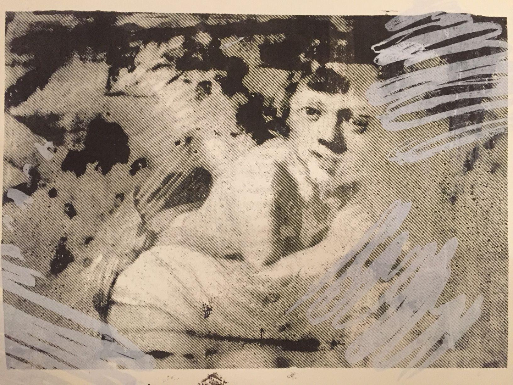 Katharina Moser, fallen angel 3, Siebdruck, 43x35cm, 2017