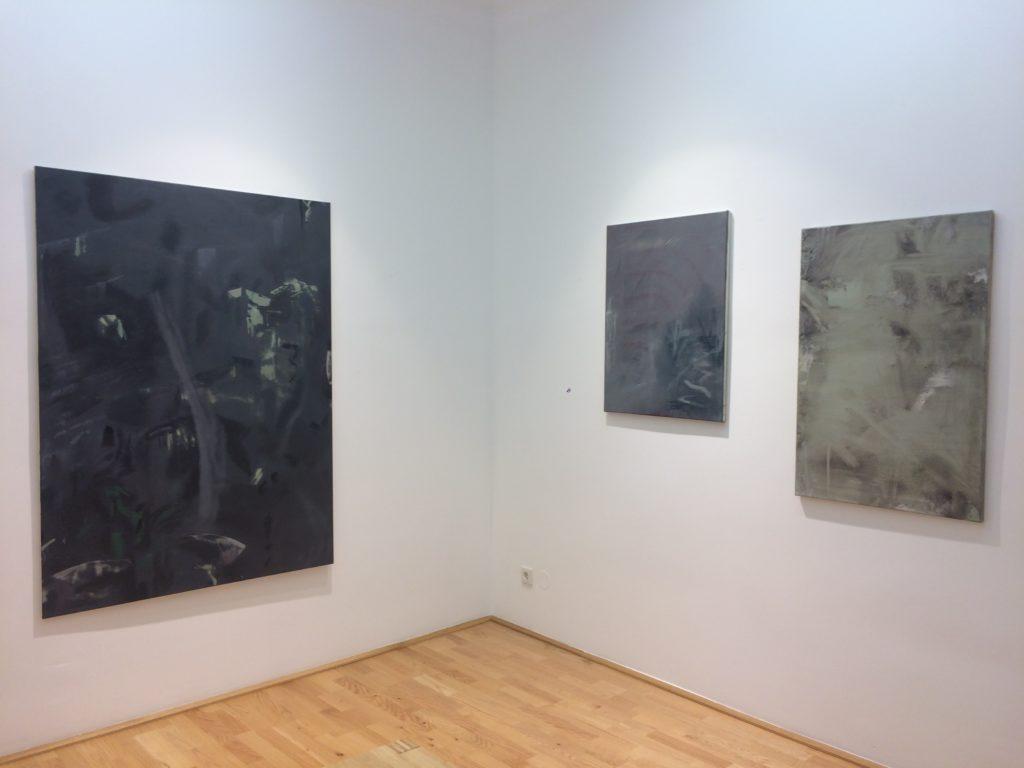 Benjamin Feldgrill und Zsombor Sáli, Working Title #45: o.T., Ausstellungsansicht, Loft8, 2018