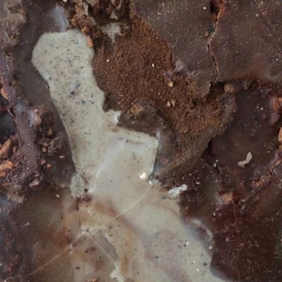 Alfred Graf, Materialbild Uvala Tuhin, 2017, Erde, Steine, Kalk, Wachs, ca 67x51x4cm (Detail)