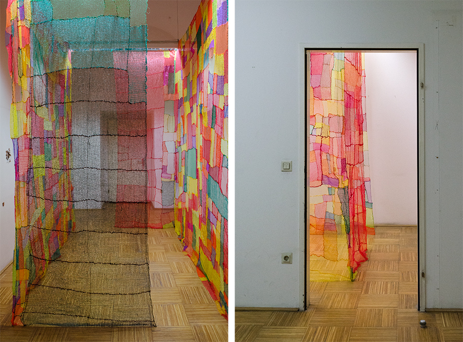 Jelena Micic, Visual Statistics, 2017, 3,5x2m, 3,5x2m, A Marriott in Ritz Clothing, Alte Post, Vienna, exhibtion view 2
