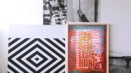 Michael Wegerer, Maze, Assemblage, Siebdruck, Gipsplatten, Glas, Papier, 100x150cm, 2017-18,SerieMAze (c) Michael Wegerer, Fotografin (c) Sabina Bundurus