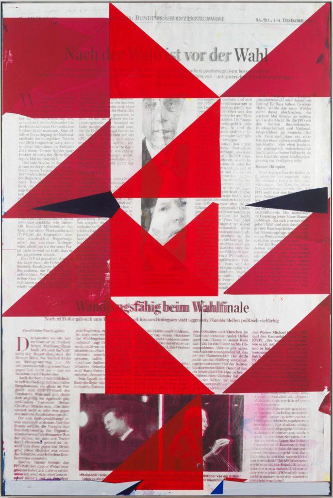Michael Wegerer, Game Plan B, Siebdruck und Lack auf Papier und Holz, 100x150cm, 2017, (c) Michael Wegerer, Fotografin (c) Claudia Rohrauer