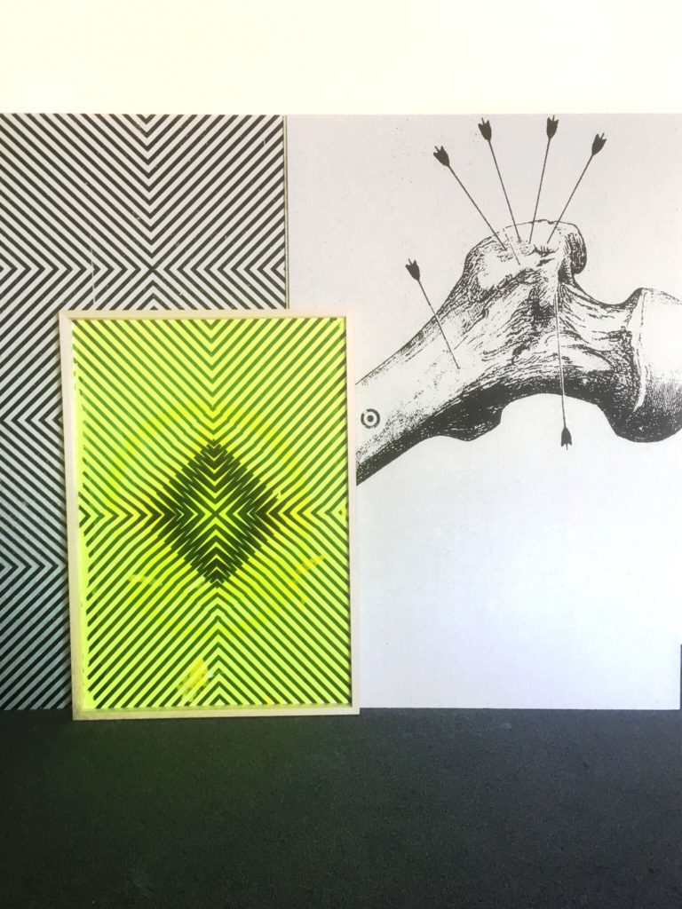 """Ozean"", Siebdruck Gipsplatten, 100x150cm, 2017 (c) Michael Wegerer"