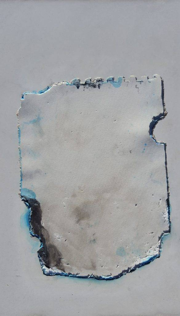 Alexander Blum, Brief Nr.12 35x35cm (Beton Tinte) 2018