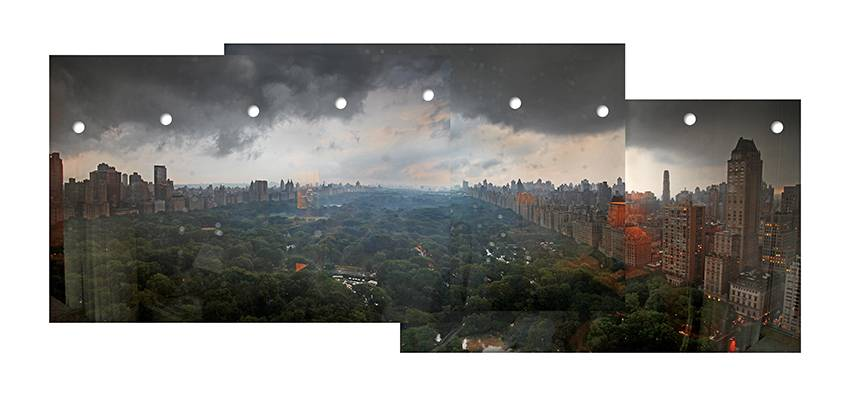 Wan Xia, Central Park (#2), 2010, digital print, 95x195