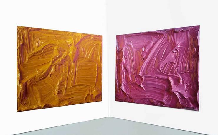 Felix Rehfeld Ecke Gelb Pink jeweils 180x240cm Öl auf Leinwand 2012