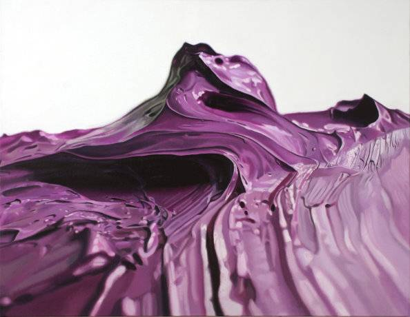 Felix Rehfeld Lila Berg 130x170cm Öl auf Leinwand 2005