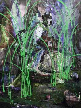 Xu Hongxiang, The green grass, 2018, oil on canvas, 200×160cm © Xu Hongxiang