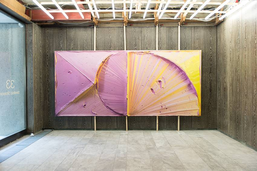 Felix Rehfeld, Großer Gelbschein 2019, Öl auf Leinwand, 180x240cm
