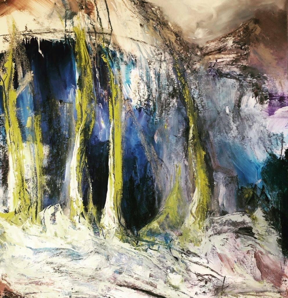 Katharina Moser, imagine, Öl/Papier, 70x100cm, 2020