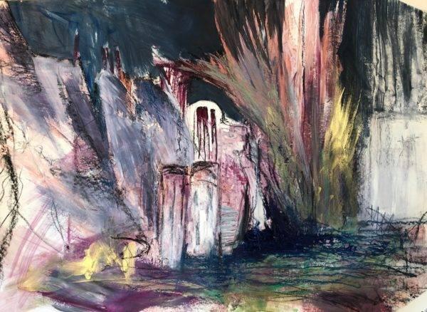 Katharina Moser, fairytale, Öl/Papier, 100x70cm, 2020